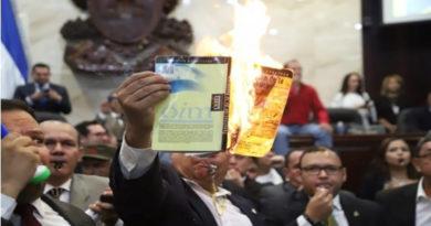 Diputados de Libre queman Constitución en acto de protesta