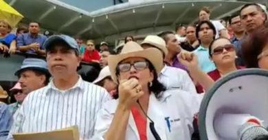 """""""Con una persona que toquen de la lucha vamos a dejar los hospitales"""": Ligia Ramos"""