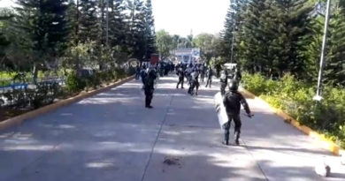 Estudiantes rememoran el ingreso de la bota militar a la UNAH