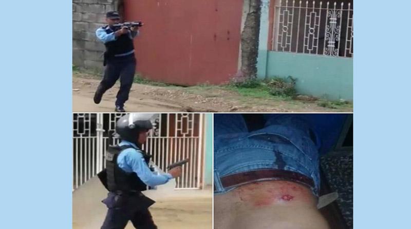 Policía reprime