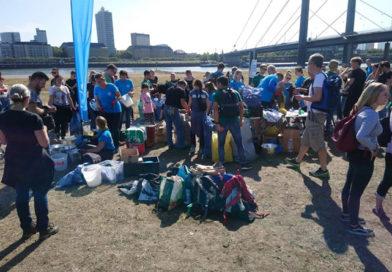 Europeos realizan campaña de limpieza en el río Rin