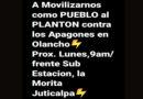 Anuncian plantón en Olancho por pésimo servicio eléctrico