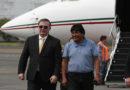«Muchas gracias por salvarme la vida»: Evo al llegar a México