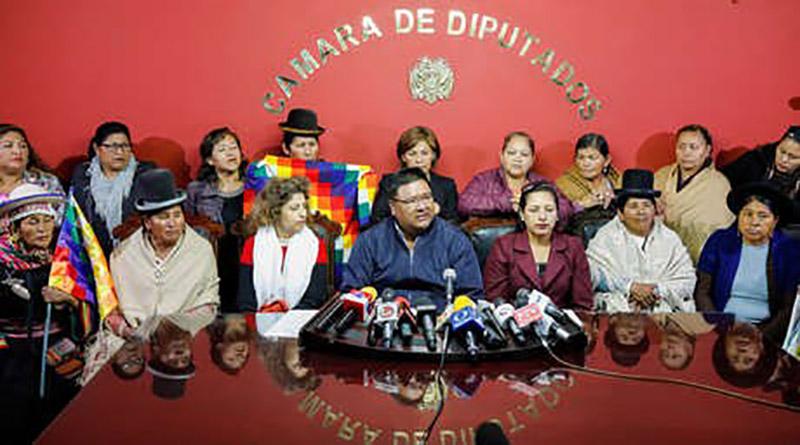 legisladores del partido de EVO