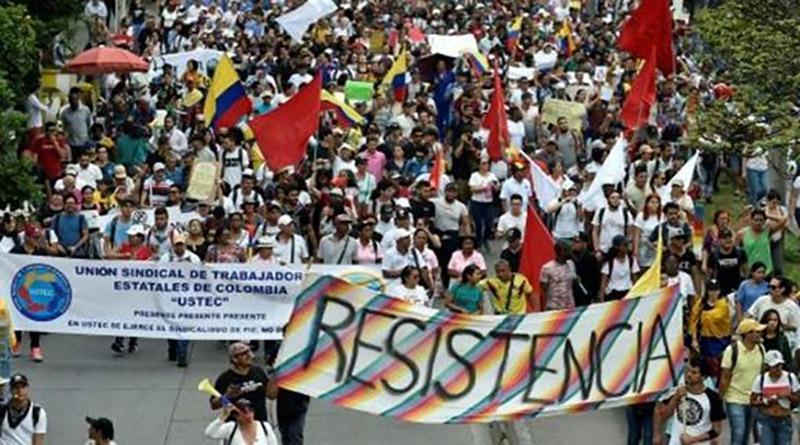 Colombia realiza segunda huelga