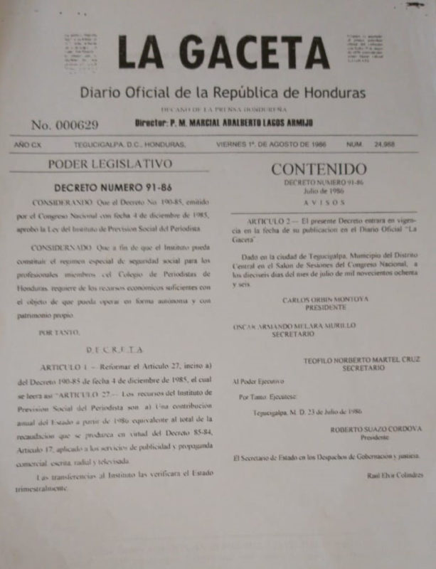 El Decreto 91-86