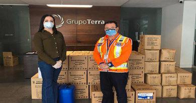 Grupo Terra entrega insumos médicos a hospitales en Tegucigalpa