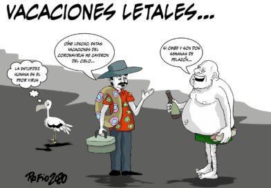 Policía desaloja a excursionistas en Tela, Atlántida