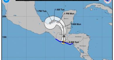 Amanda se convierte en tormenta tropical y dejará fuertes lluvias en Honduras y CA