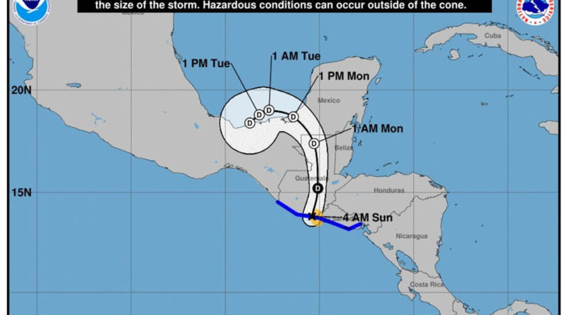 Amanda se convierte en tormenta tropical