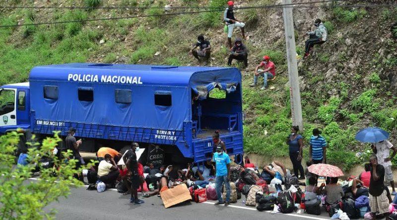 Grupo migrante haitiano