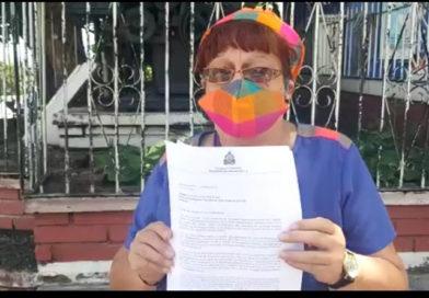 Diputada Doris Gutiérrez entrega a ENAG decreto de derogación del Nuevo Código Penal