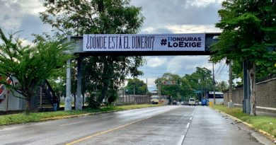 """""""¿Dónde está el dinero?"""", el grafiti que se hizo viral en Honduras y que quieren borrar de cualquier forma"""