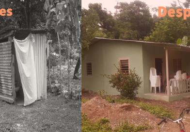En 18 días, comunidad unida reconstruye casa de anciana en El Porvenir, Atlántida