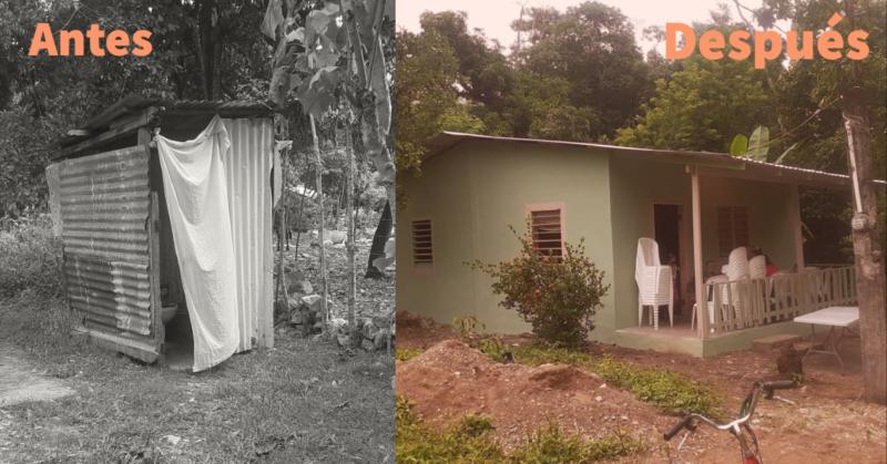 comunidad unida reconstruye casa de anciana