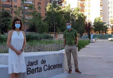 Ayuntamiento de Valencia pone el nombre de Berta Cáceres a un jardín de la ciudad