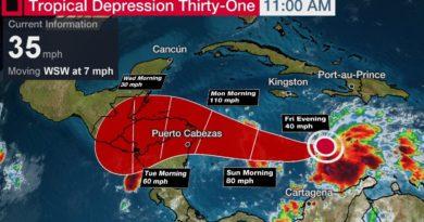 Copeco lanza listado de zonas que deben evacuar ante proximidad de tormenta Iota
