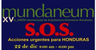 """Este 22 de diciembre se desarrolla """"Mundaneum SOS, Acciones urgentes para Honduras"""""""