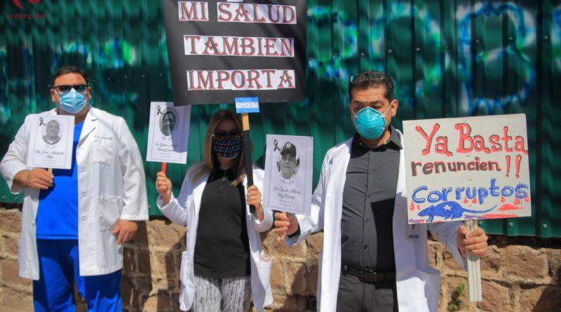 Protesta del personal médico
