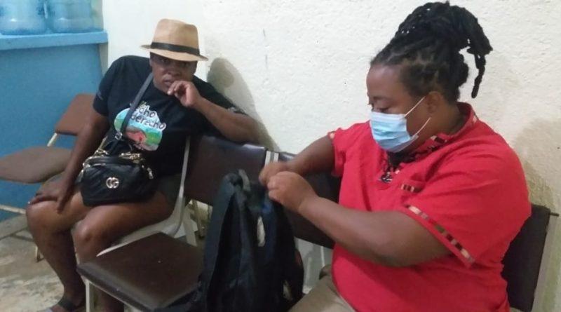 dos defensoras garífunas en Tocoa, Colón