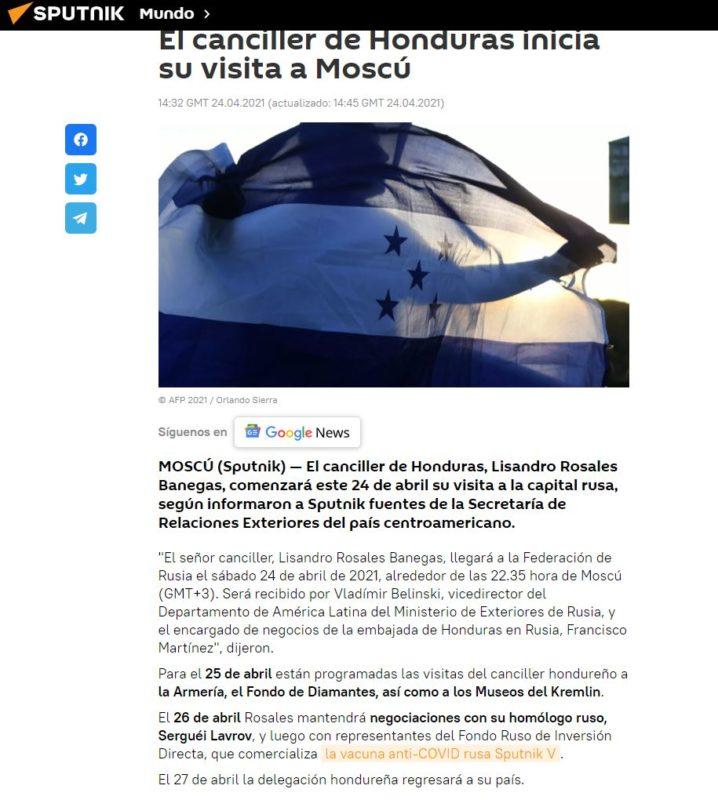 Vacuna Convid-19 Honduras