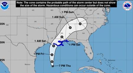Advierte sobre tormenta tropical