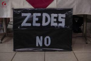 No a las ZEDE Honduras