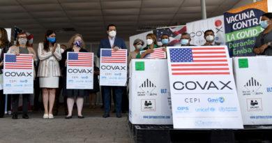 Estados Unidos dona cien mil vacunas más